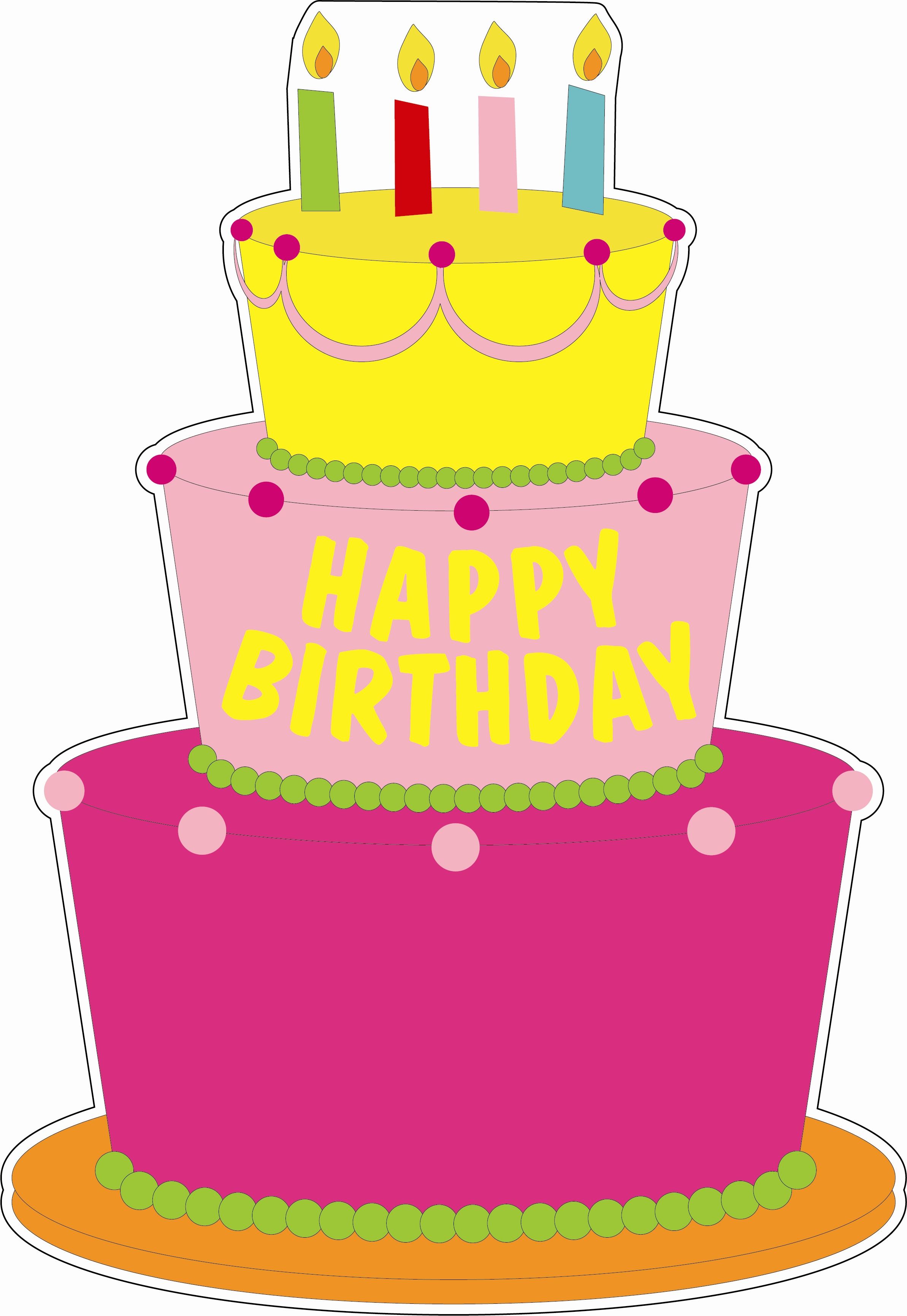 Birthday Cakes Cartoons Images
