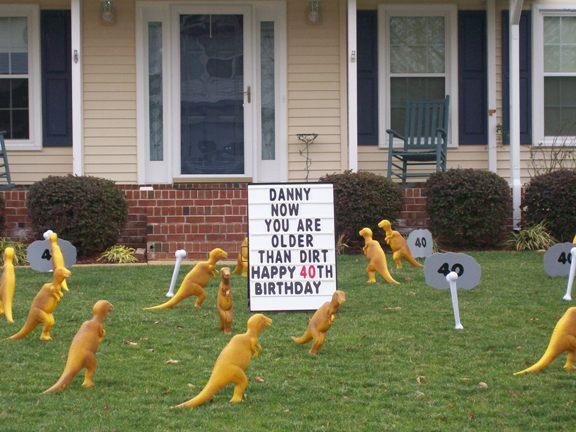 Dinosaurs Birthday Yard Card