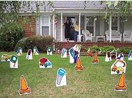 Construction Birthday Lawn Greeting Rental